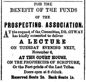 1860-11-02 Twofold Bay Observer ad for talk by WBO.jpg