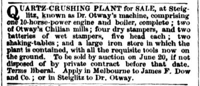1859-05-31 Ad selling Otway's crushing plant at Steiglitz.jpg